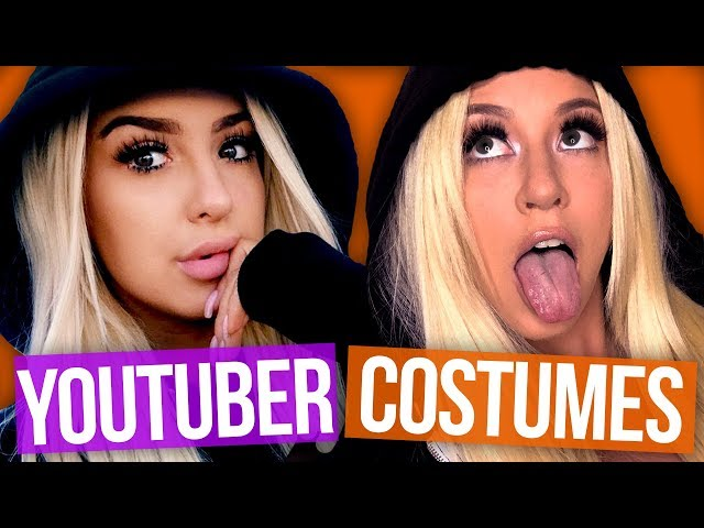 Dressing Up as YouTubers For Halloween w/ GRACE HELBIG! (Boo-ty Break)