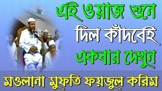 Mufti Faizul Karim New Bangla Waz 2017 - মুসলমান না হয়ে মরলে কবরে কি কি আজাব হবে ?