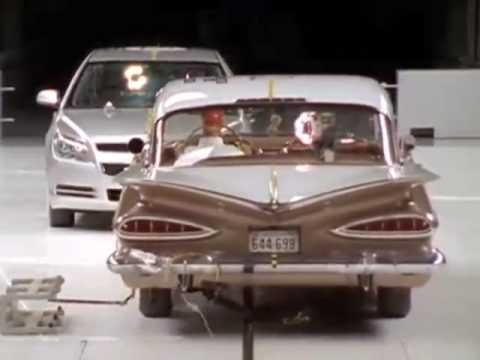 2009 Chevy Malibu vs 1959 Bel Air Crash Test Consumer Reports