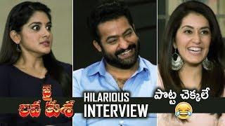 Jai Lava Kusa Team Hilarious Interview   Jr NTR   Nivetha Thomas   Raashi Khanna   TFPC