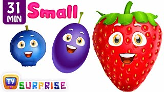 Learn Sizes & Fruits For Kids | ChuChu TV Surprise Eggs