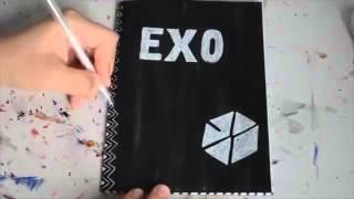 كيفية عمل دفتر كيبوبي لفرقة #Exo