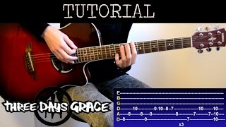 Cómo tocar Never Too Late - Three Days Grace (Tutorial Guitarra)