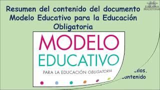 Resumen del documento Modelo Educativo