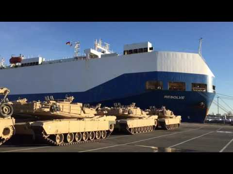 US ARMY Arrival Bremerhaven January 2017