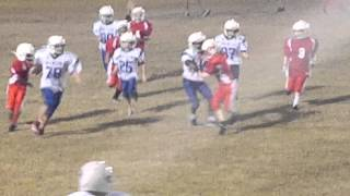 Here comes the BOOM nine year old stiff arms