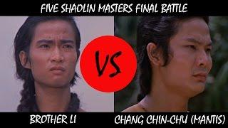 Brother Li vs Chang Chin-Chu - Five Shaolin Masters 1974