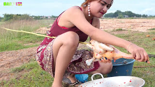 Wow!! Supper Cooking - Wonderful Girl Grill Chicken Recipe Style - how to make country food