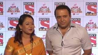 Sonalika Joshi Looks Beautiful in Yellow Saree at Sab Ke Anokhe Awards2015