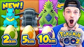 Pokemon GO - ALL *GEN 2* EGGS - 2km, 5km + 10km! (NEW POKEMON)
