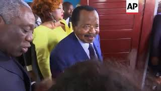President Paul Biya votes in Cameroon election