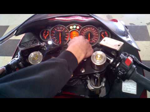 How to set the shift light on a Hayabusa