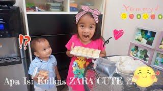 Kulkas Persahabatan | Intip isi kulkas di rumah Zara Cute