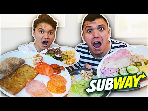 SUBWAY TASTE TEST CHALLENGE!!