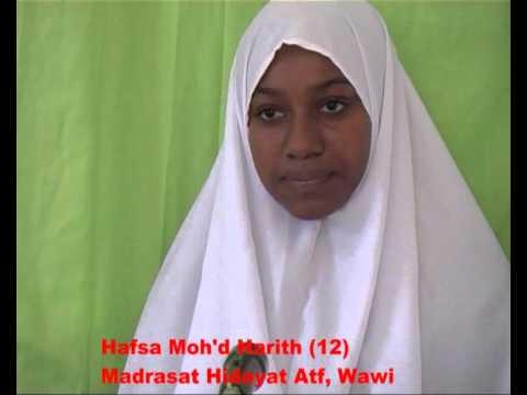 Mashindano ya Qur'an Pemba 2012 - Tartil Juzu 20, Wanawake - 2