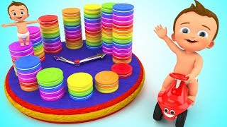 Learn Numbers with Baby Oreo Cookies Wooden Clock Toy 3D Kids Toddlers Learning Educational