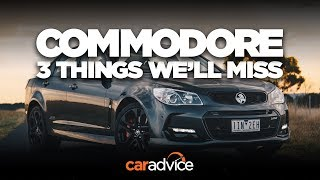 The V8 Sedan: 3 things we'll miss about the Holden Commodore