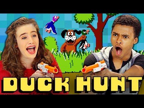 DUCK HUNT NES Teens React Retro Gaming