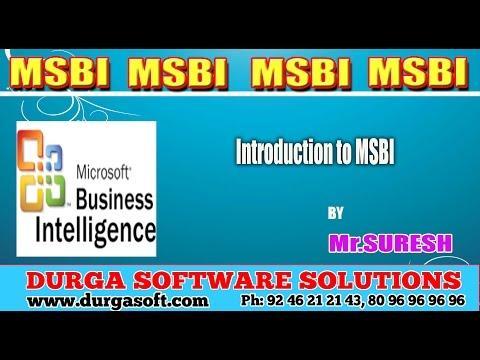 Download MSBI || Introduction to MSBI free