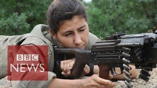 Kurdish & Yazidi women fighting ISIS - BBC News