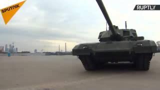 آماده شدن تانک های آرماتا برای رژه نظامی 9 ماه مه در مسکو