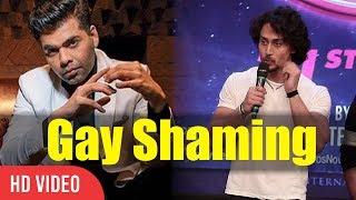 Tiger Shroff Reaction On Karan Johar Tweet On Gay Shaming | India is A Jail