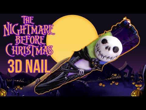 Xxx Mp4 The Nightmare Before Christmas HALLOWEEN 3D NAIL ART 3gp Sex