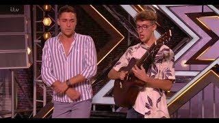 Jack & Joel: STUNNING Guitar Beatbox Ed Sheeran Medley | Auditions | The X Factor UK 2017
