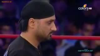 Harbhajan Singh Fighting In WWE
