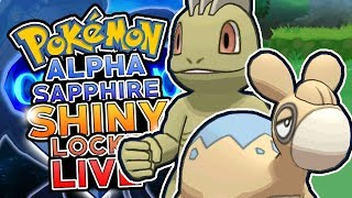 LIVE SHINY NUMEL & MACHOP HORDE HUNTING! Pokemon Alpha Sapphire ShinyLocke Shiny Hunting w/ HDvee