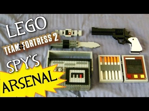 Team Fortress 2 LEGO Spy s FULL Arsenal LEGO Revolver Butterfly Knife Invis Watch etc.