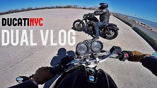 Dual Vlog: Harley and Ducati ride New York City - Secret Airfield Trip - Part 1 - v207
