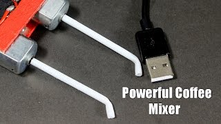 How to make Powerful Usb Electric Coffee Mixer at Home