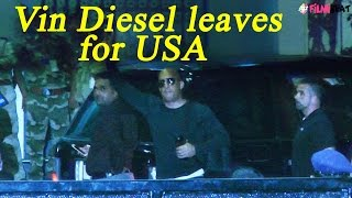 Vin Diesel SPOTTED at airport, leaving for AMERICA: Watch Video | FilmiBeat