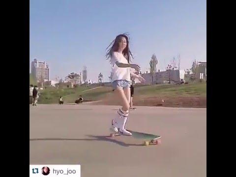 Xxx Mp4 Korean LONGBOARDING GIRL Hyo Joo Skating To Kero 39 S Quot So Seductive Quot Viral Video 9GAG 3gp Sex