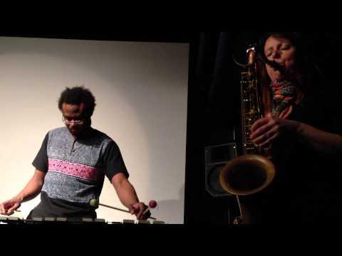 Rachel Musson (sax, London) & Corey Mwamba (vib, Derby), Filmwerkstatt Düsseldorf, 2015-02-05