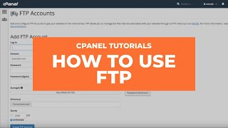 cPanel Tutorial: How to use FTP
