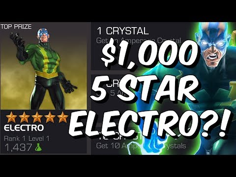 $1,000 5 Star Electro?!? - The Whale Milking Continues - Marvel Contest Of Champions