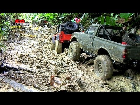Mudding 18 RC Trucks scale adventures Axial SCX10 Wraith Defender 90 RC4wd Trail finder 2