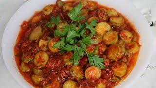 طريقة تحضير القرع الاخضر(الكوسا) بالطماطم و الزعتر
