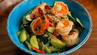 Sautéed Zucchini and Shrimp (Aehobak-saeu-bokkeum: 애호박새우볶음)