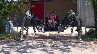 Raw footage of the Mantis Walking Machine tests 05.2012