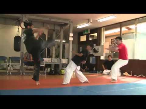 High Kick Karate Girl training footage