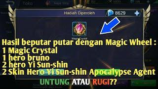 Cara mudah mendapatkan magic crystal dan item lainnya di magic wheel mobile legend dengan 11000 D