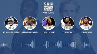 UNDISPUTED Audio Podcast (04.18.19) with Skip Bayless, Shannon Sharpe & Jenny Taft | UNDISPUTED