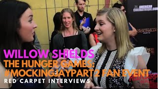 Willow Shields #PrimroseEverdeen at the The Hunger Games: #MockingJayPart2 Fan Event