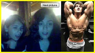 JEFF SEID on CHATROULETTE #4 Hot Girls Reactions to Aesthetics (Bodybuilding Motivation)