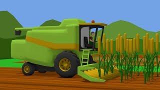 Corn harvest | Tractor and Combine for Kids | Zbiory kukurydzy | Traktor i Kombajn Dla Dzieci