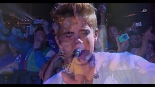 Justin Bieber - Never Let You Go Acoustic (under the rain) - High Definition Mexico Concert Live