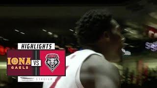 Iona vs. New Mexico Basketball Highlights (2018-19) | Stadium